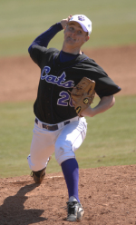 Right-handed hurler Mike Tavernier is one of two returning All-Southern Conference players from last year's Catamount squad.