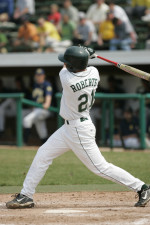 Chris Roberts went 3-for-5 in the last game of the Green-White World Series.