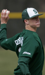 Kyle Corcoran picked up the win in game two of the Green-White World Series.