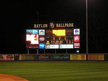 Baylor Ballpark- Picture courtesy of Donald J Boyles
