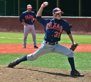Senior Tommy Rozell allowed just one hit over the final 3.2 innings of Friday's 5-3 win over Hendrix at the NCAA West Regional in McMinville, Ore. The Patriots will play again tomorrow at 3:30 PDT.