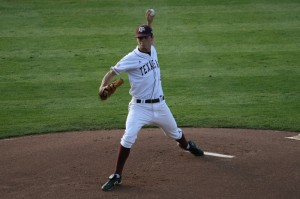 Brooks Raley and Texas A&M battle rival Texas with both team's Big 12 title hopes still alive.  (Photo courtesy of Wildmen03 at Texags.com)