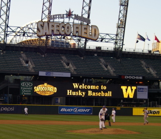 Welcome to Safeco Field and Husky Baseball