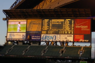 Safeco Field scoreboard