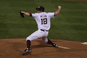 Alex Wilson and Texas A&M travel to Oklahoma to take on the Sooners this weekend.  (Photo courtesy of Wildmen03 at TexAgs.com)