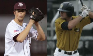 Ross Hales (Texas A&M) and Greg Folgia (Missouri)-Courtesy: Big12Sports.com