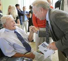 John Winkin with Gary Thorne (Bangor Daily News Photo by Michael York)