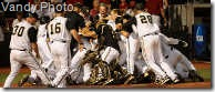 Vanderbilt versus Louisville in NCAA regionals championship in Louisville, KY.  Vandy wins 3-2 in 10 innings.(Vanderbilt University / John Russell)